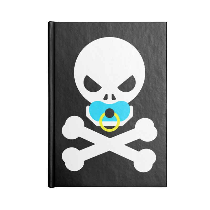 Jolly Roger's Baby Accessories Lined Journal Notebook by Universehead Podcast Network Store