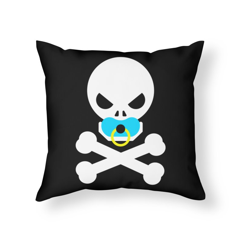Jolly Roger's Baby Home Throw Pillow by Universehead Podcast Network Store