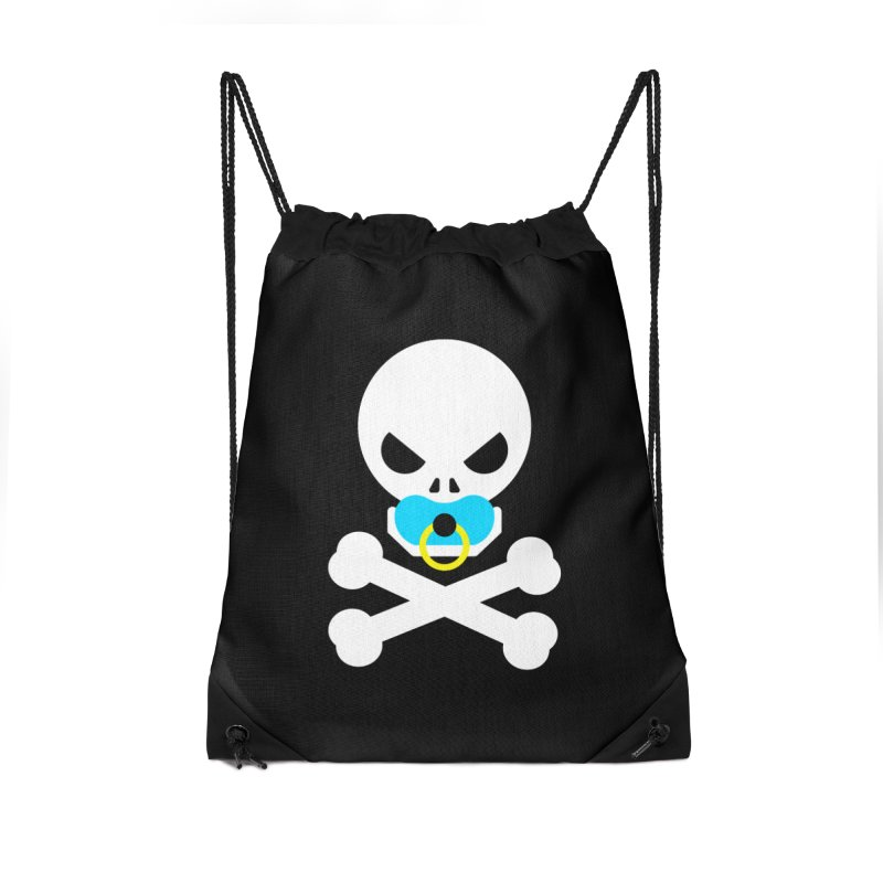 Jolly Roger's Baby Accessories Drawstring Bag Bag by Universehead Podcast Network Store