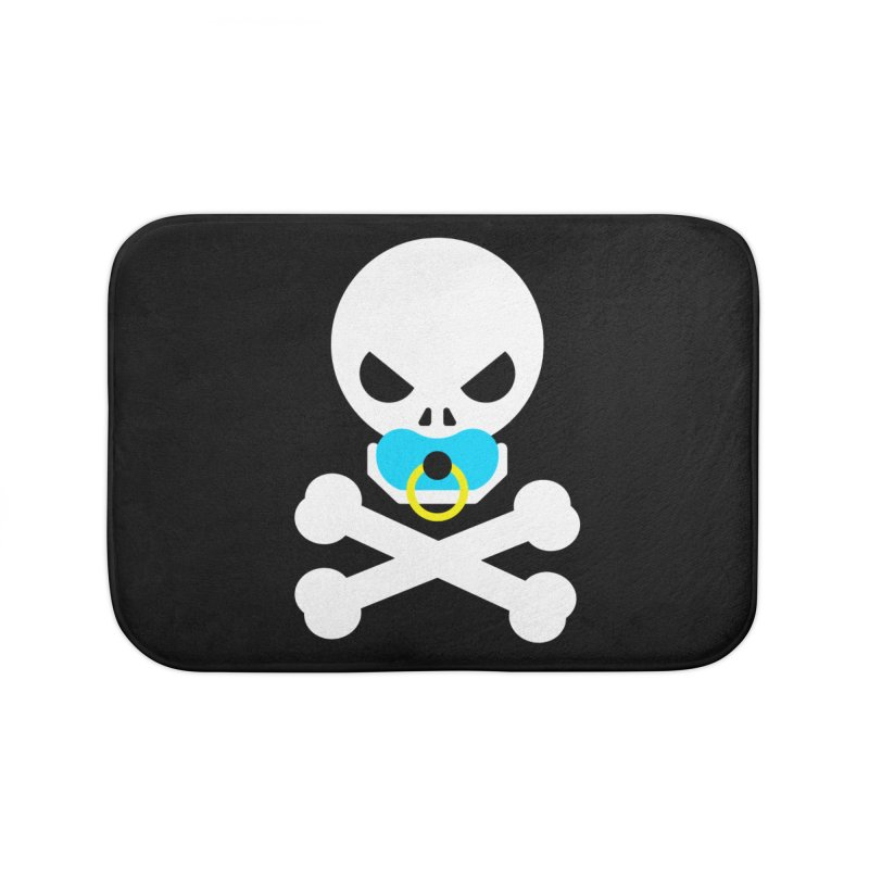 Jolly Roger's Baby Home Bath Mat by Universehead Podcast Network Store