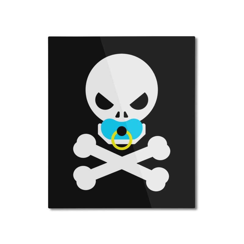Jolly Roger's Baby Home Mounted Aluminum Print by Universehead Podcast Network Store