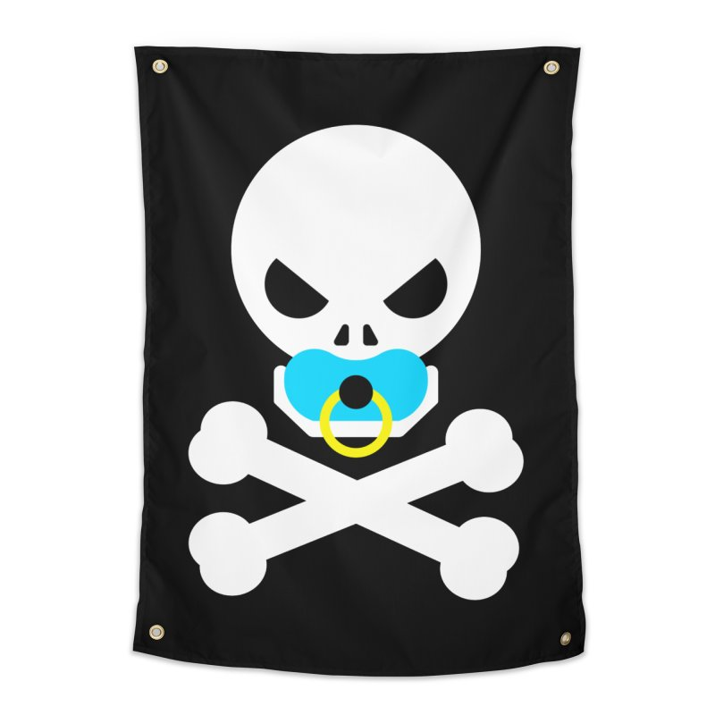 Jolly Roger's Baby Home Tapestry by Universehead Podcast Network Store