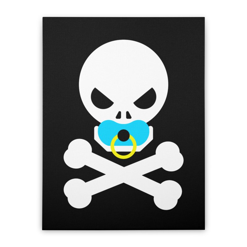 Jolly Roger's Baby Home Stretched Canvas by Universehead Podcast Network Store
