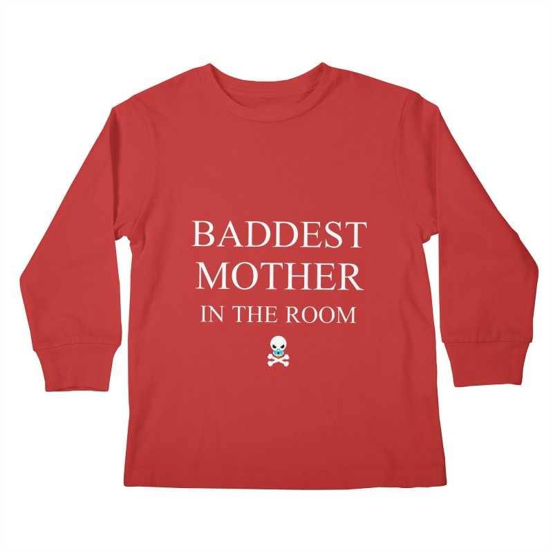 Who's the baddest? Kids Longsleeve T-Shirt by Universehead Podcast Network Store