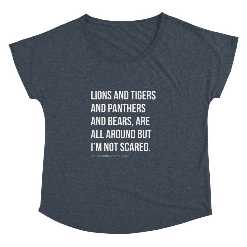 Lions and tigers and panthers and bears, are all around but I'm not scared.   by the UNIVORE store