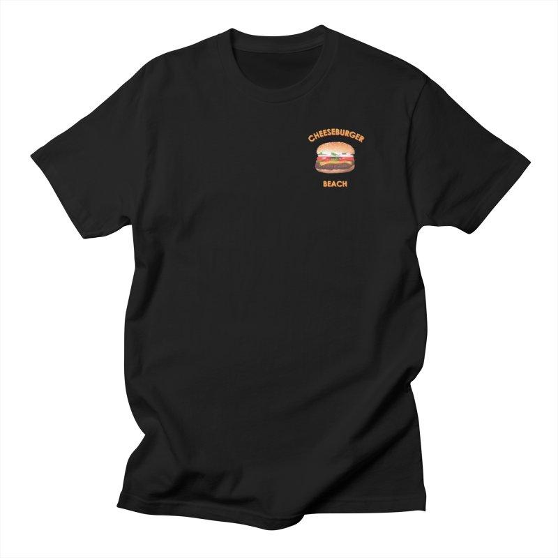 Cheeseburger Beach Men's Regular T-Shirt by the UNIVORE store