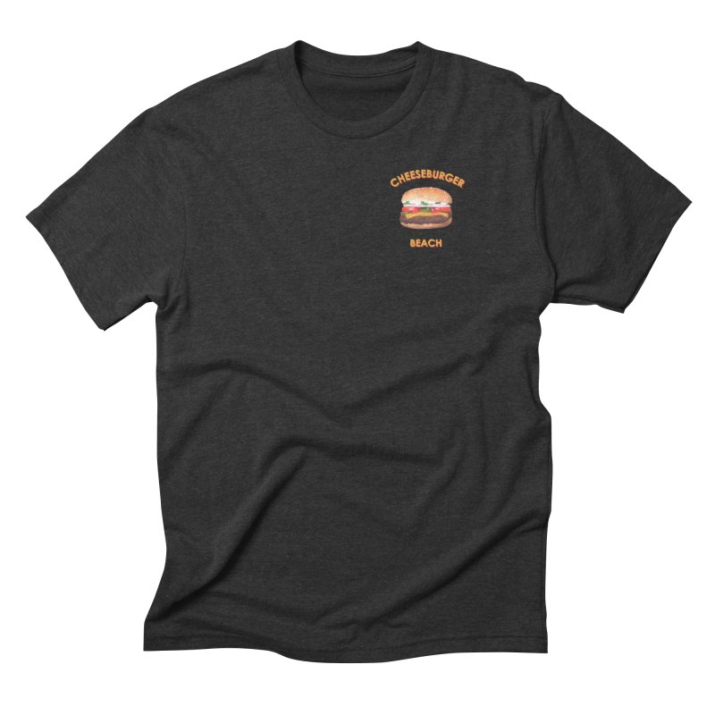 Cheeseburger Beach in Men's Triblend T-Shirt Heather Onyx by the UNIVORE store