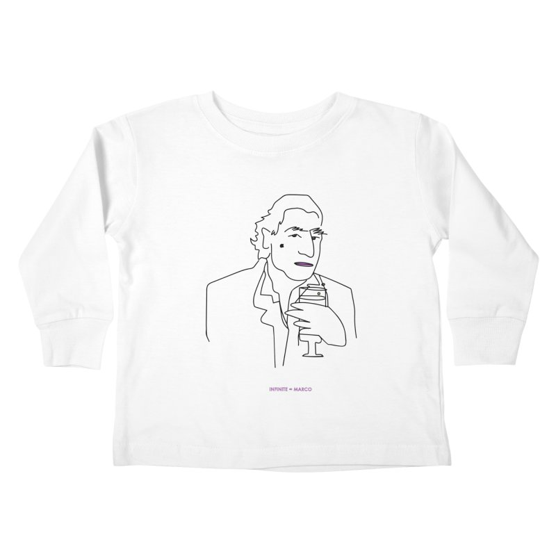 Infinite ∞ Marco (white) Kids Toddler Longsleeve T-Shirt by the UNIVORE store