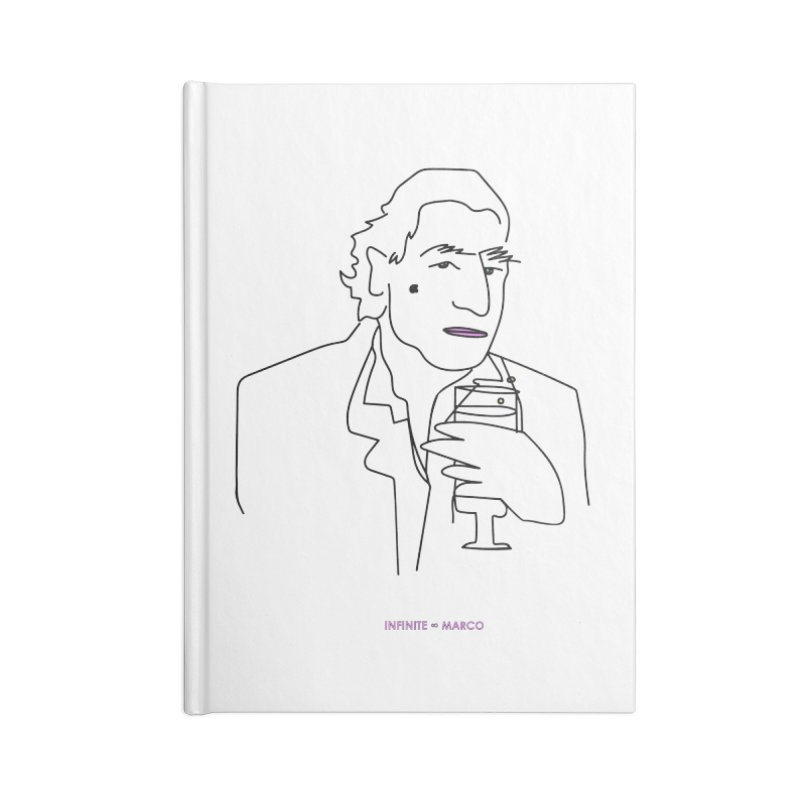 Infinite ∞ Marco (white) Accessories Lined Journal Notebook by the UNIVORE store