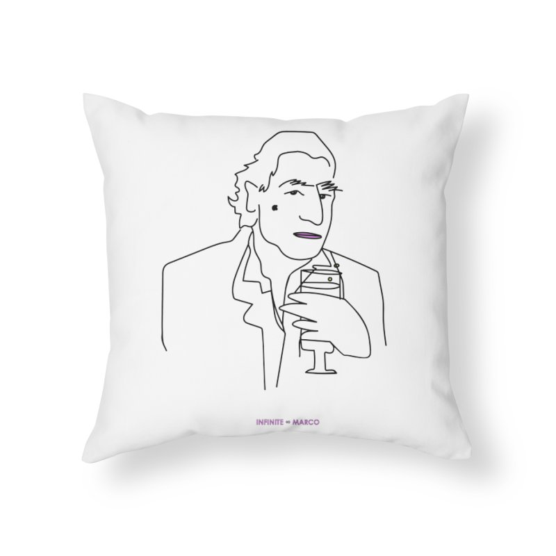 Infinite ∞ Marco (white) Home Throw Pillow by the UNIVORE store