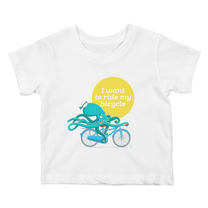 jerry the ocktopus Kids Baby T-Shirt by Unleished Art