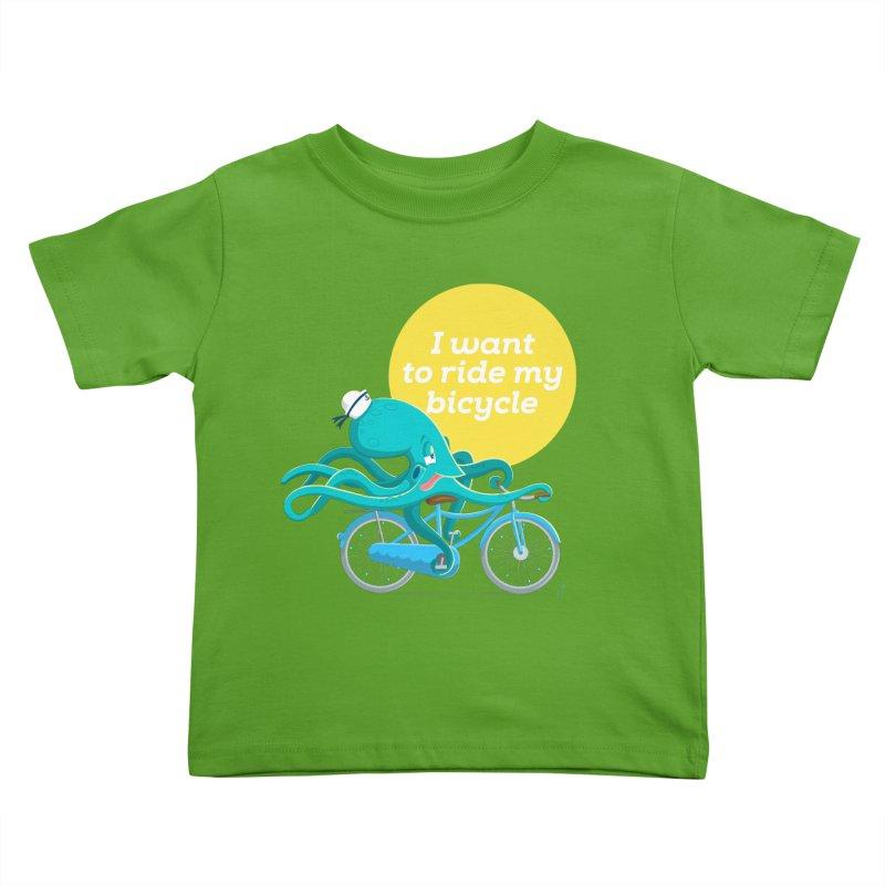 jerry the ocktopus Kids Toddler T-Shirt by Unleished Art