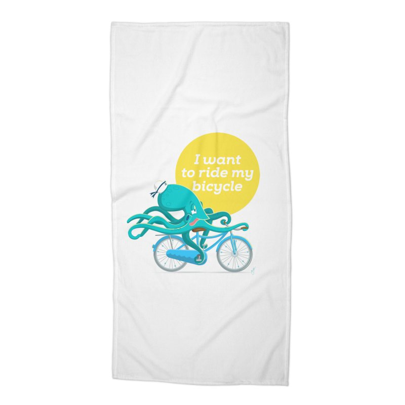 jerry the ocktopus Accessories Beach Towel by Unleished Art