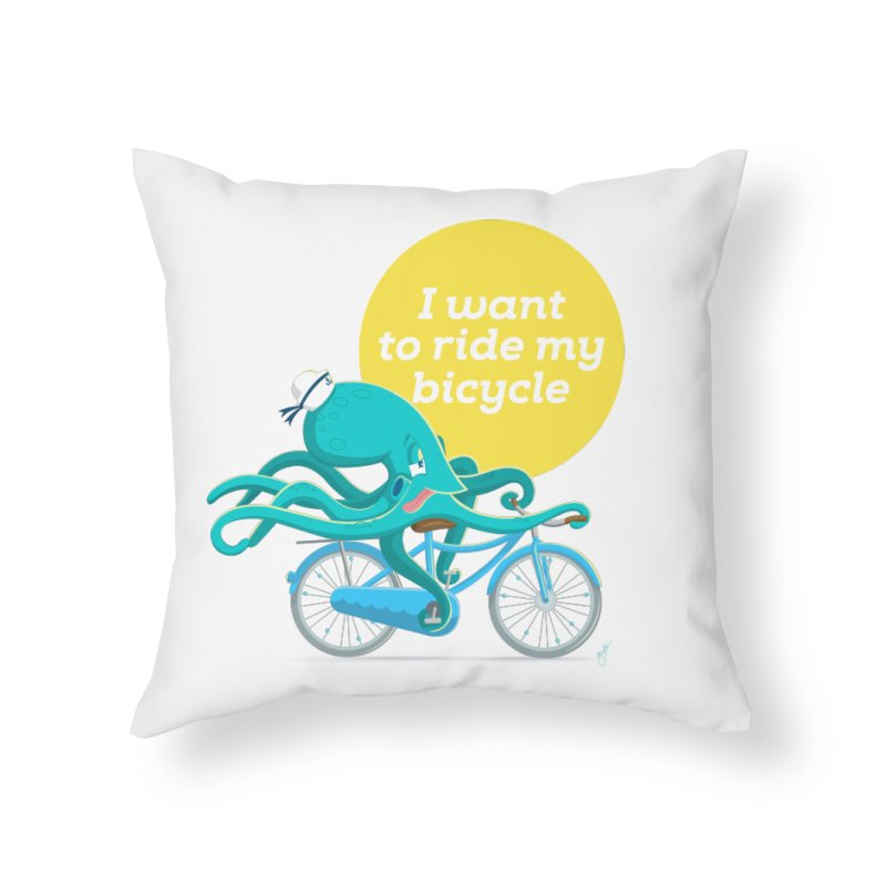 jerry the ocktopus Home Throw Pillow by Unleished's Artist Shop