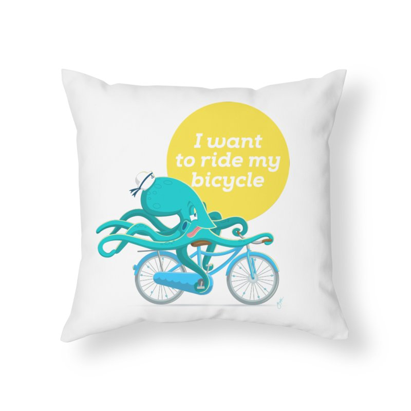 jerry the ocktopus Home Throw Pillow by Unleished Art