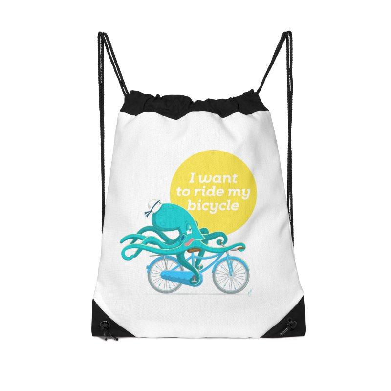 jerry the ocktopus Accessories Drawstring Bag Bag by Unleished Art