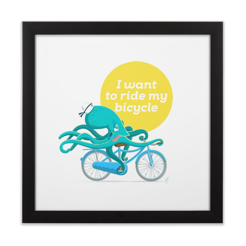 jerry the ocktopus Home Framed Fine Art Print by Unleished Art