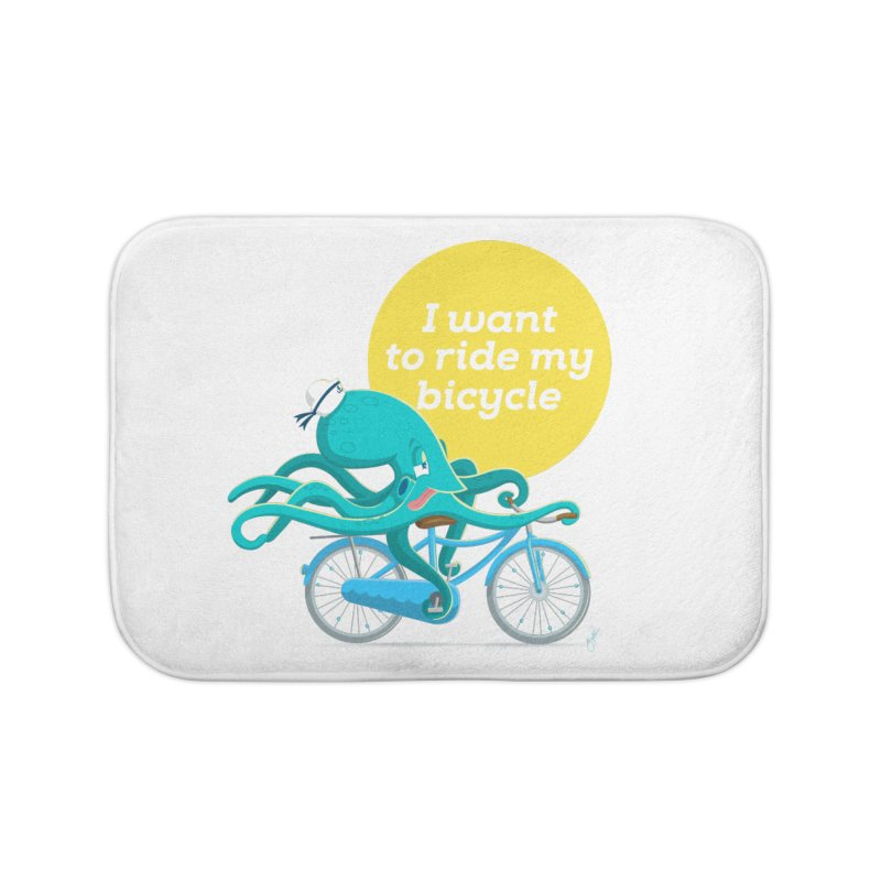 jerry the ocktopus Home Bath Mat by Unleished Art
