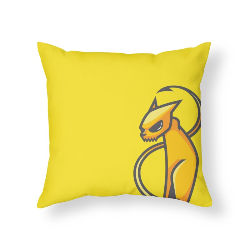 Fiesty Home Throw Pillow by Unleished's Artist Shop