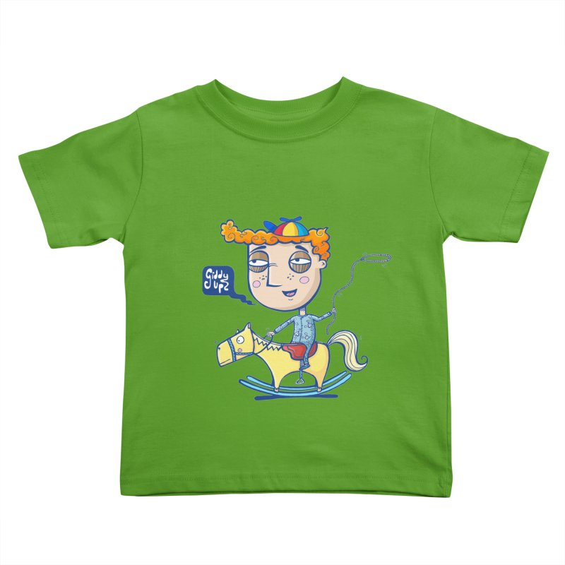 Giddy up! Kids Toddler T-Shirt by Unleished Art