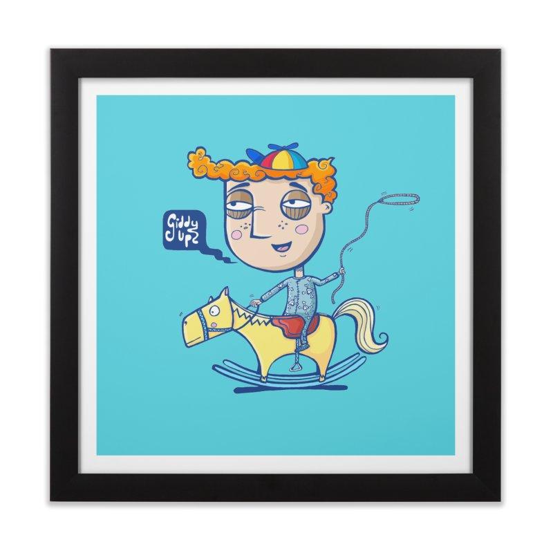 Giddy up! Home Framed Fine Art Print by Unleished Art
