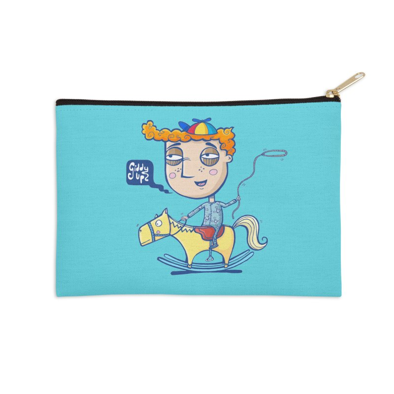 Giddy up! Accessories Zip Pouch by Unleished's Artist Shop