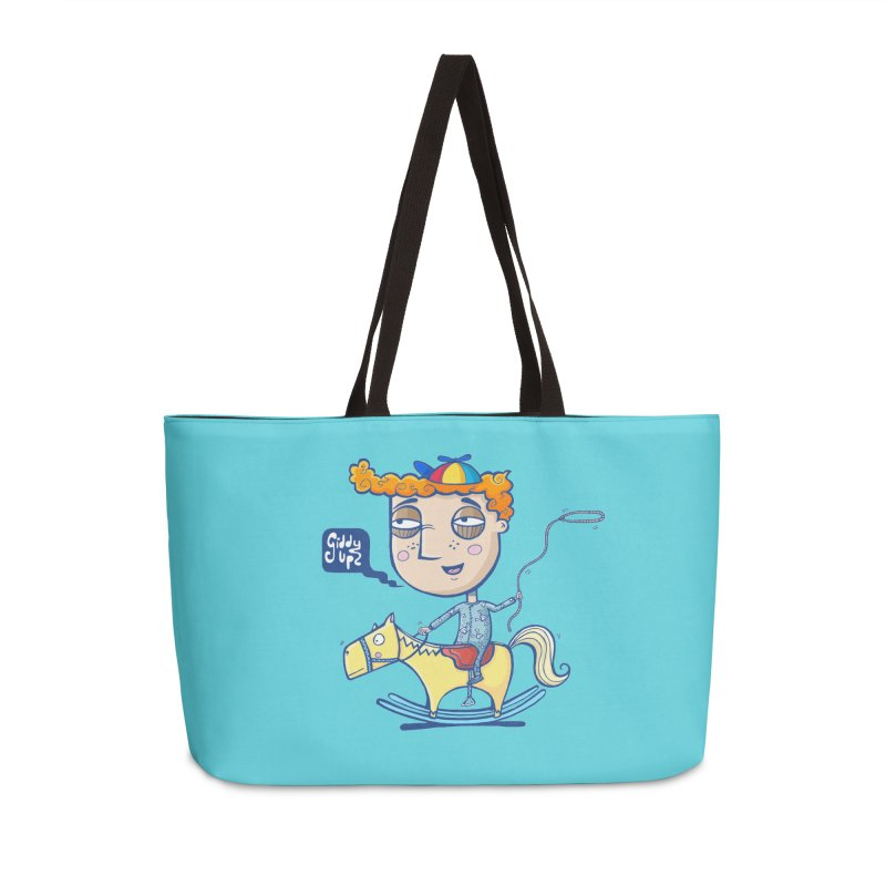 Giddy up! Accessories Weekender Bag Bag by Unleished Art