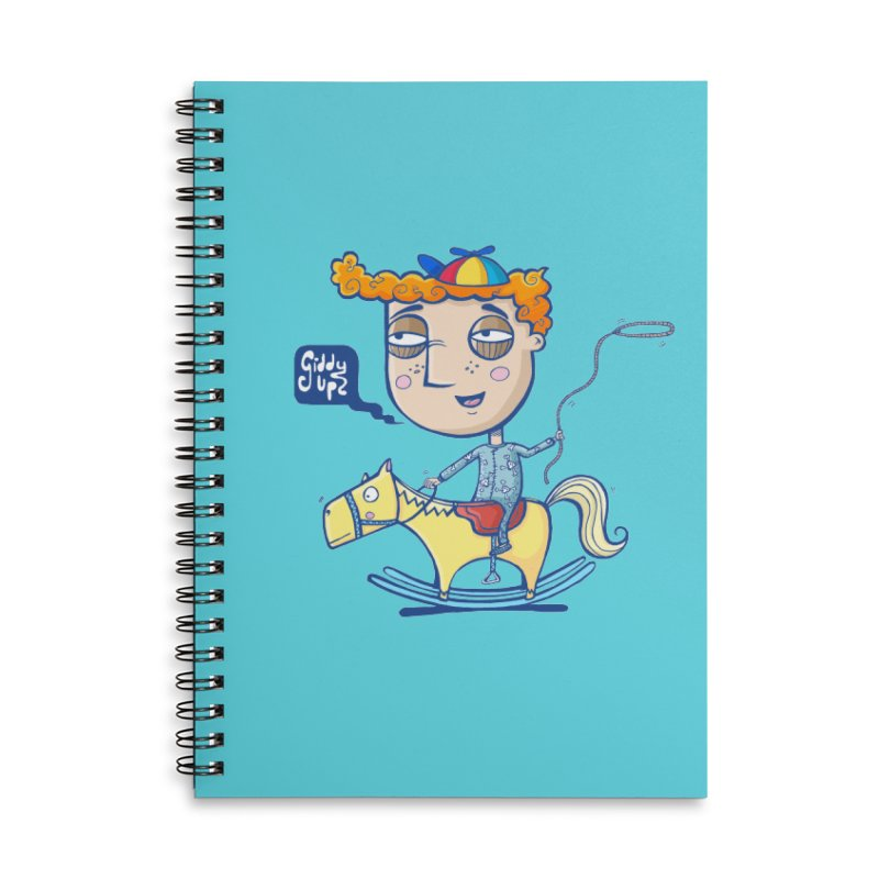 Giddy up! Accessories Lined Spiral Notebook by Unleished Art