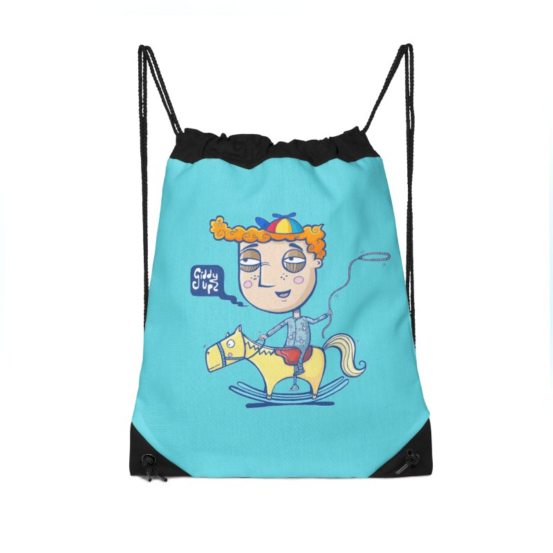 Giddy up! Accessories Drawstring Bag Bag by Unleished Art