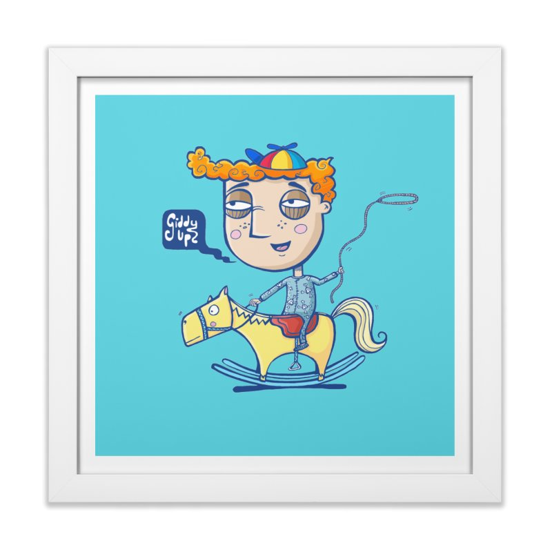 Giddy up! Home Framed Fine Art Print by Unleished Art