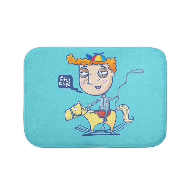 Giddy up! Home Bath Mat by Unleished Art
