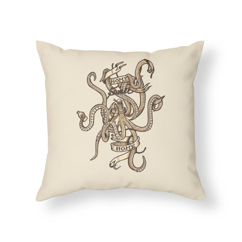 Home sweet home_vintage Home Throw Pillow by Unleished Art