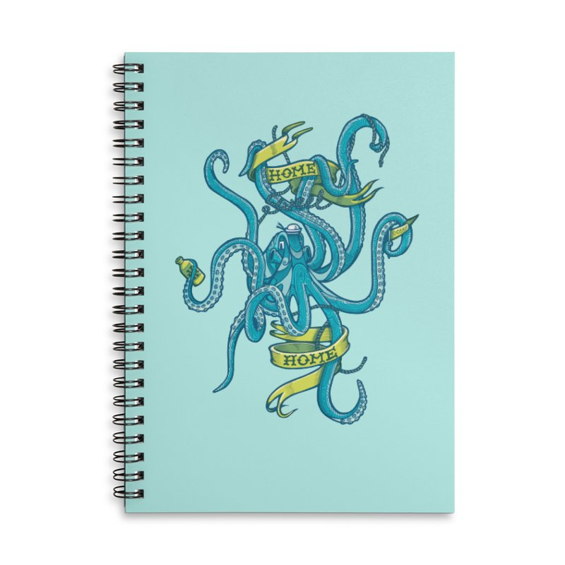home sweet home Accessories Lined Spiral Notebook by Unleished Art