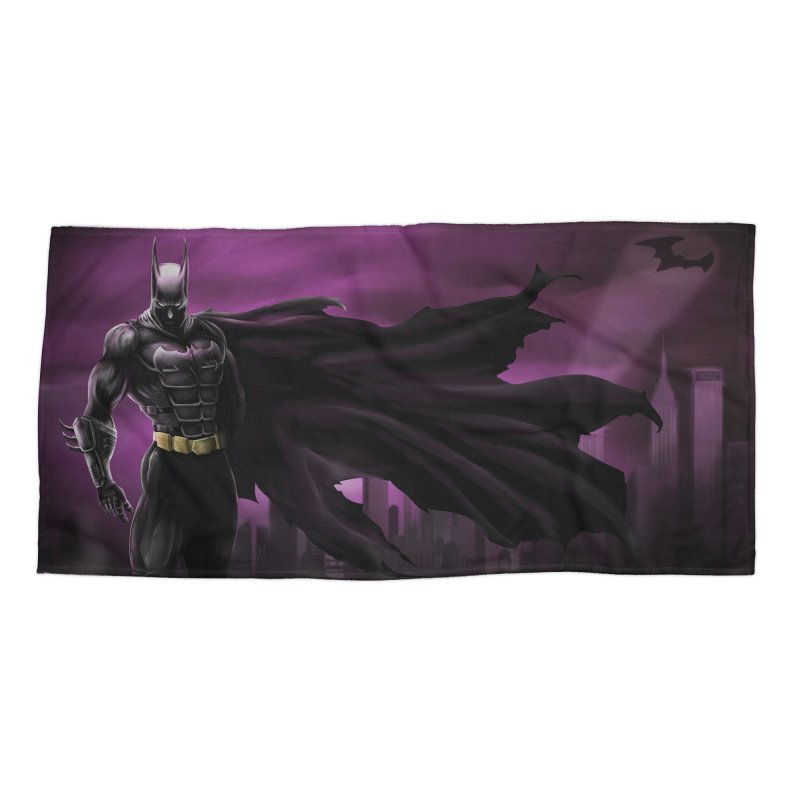 The Dark Knight Accessories Beach Towel by Unleished Art