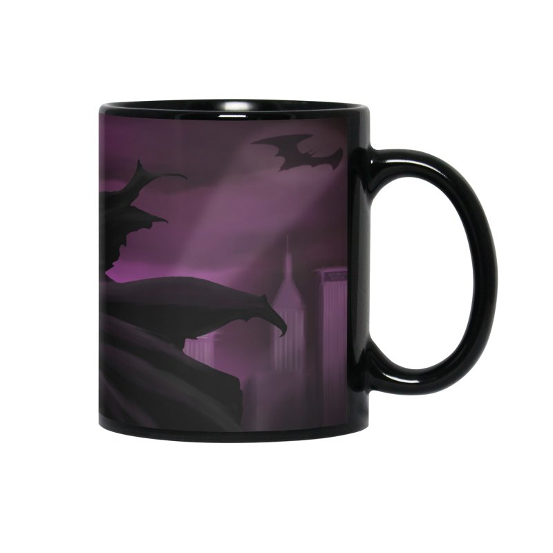The Dark Knight Accessories Mug by Unleished Art