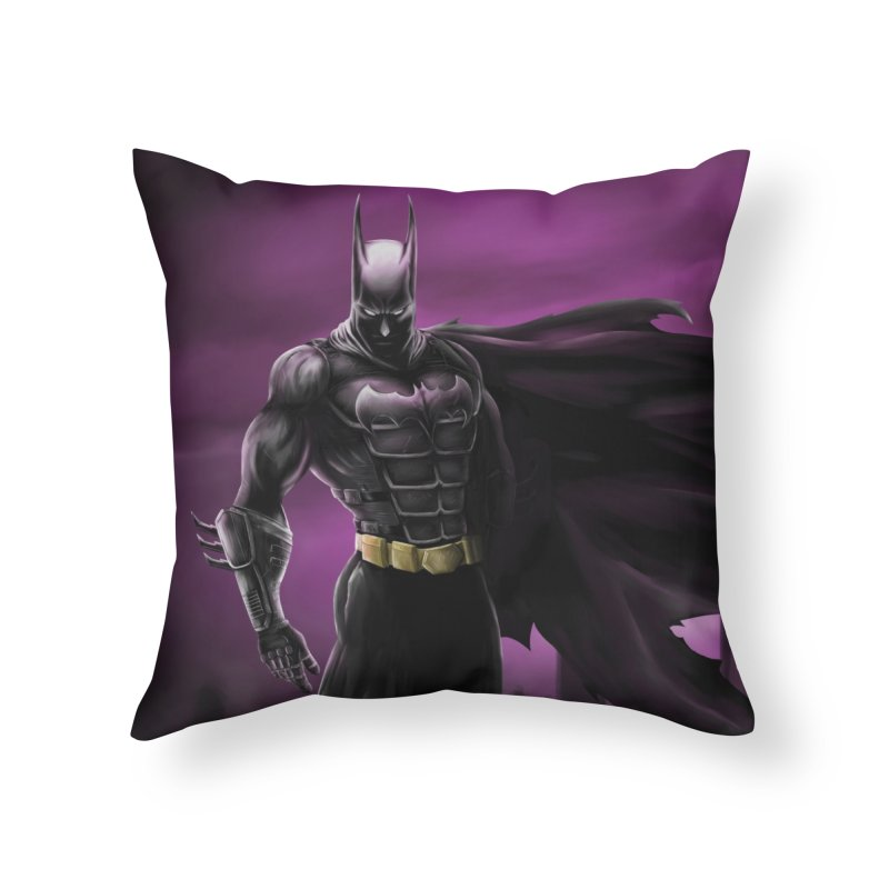 The Dark Knight Home Throw Pillow by Unleished Art