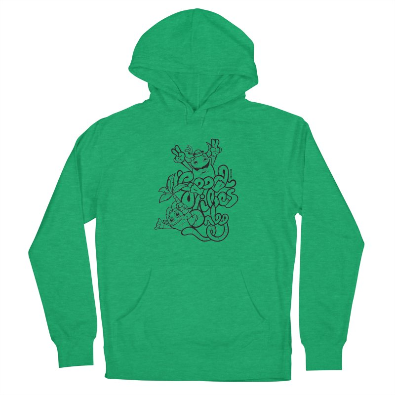 Good vibes only Men's French Terry Pullover Hoody by Unleished Art