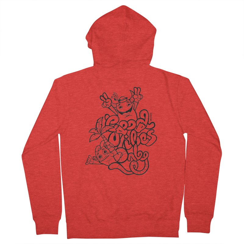 Good vibes only Men's Zip-Up Hoody by Unleished Art