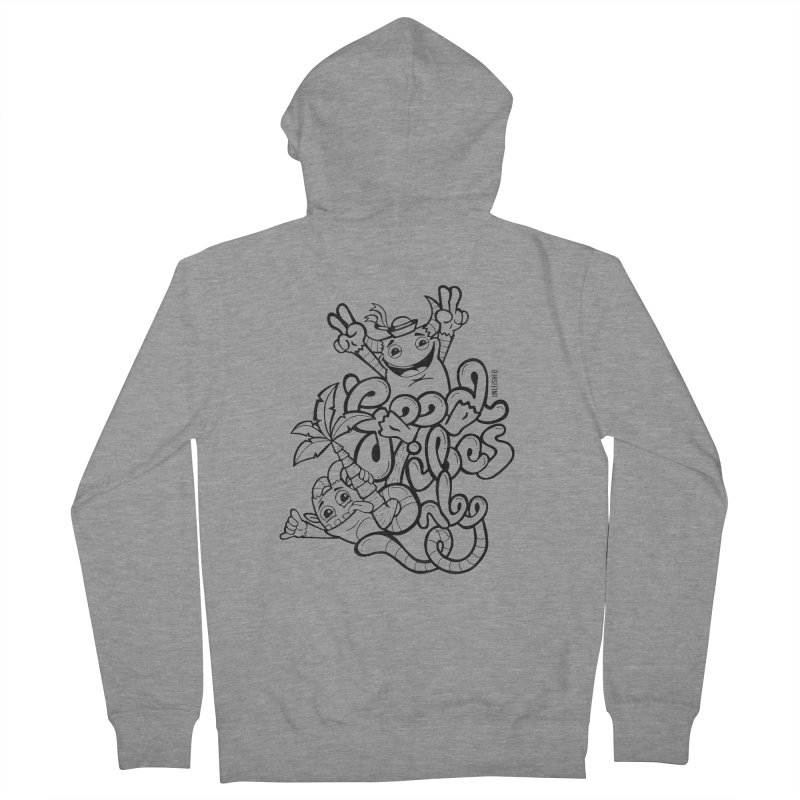 Good vibes only Men's French Terry Zip-Up Hoody by Unleished's Artist Shop