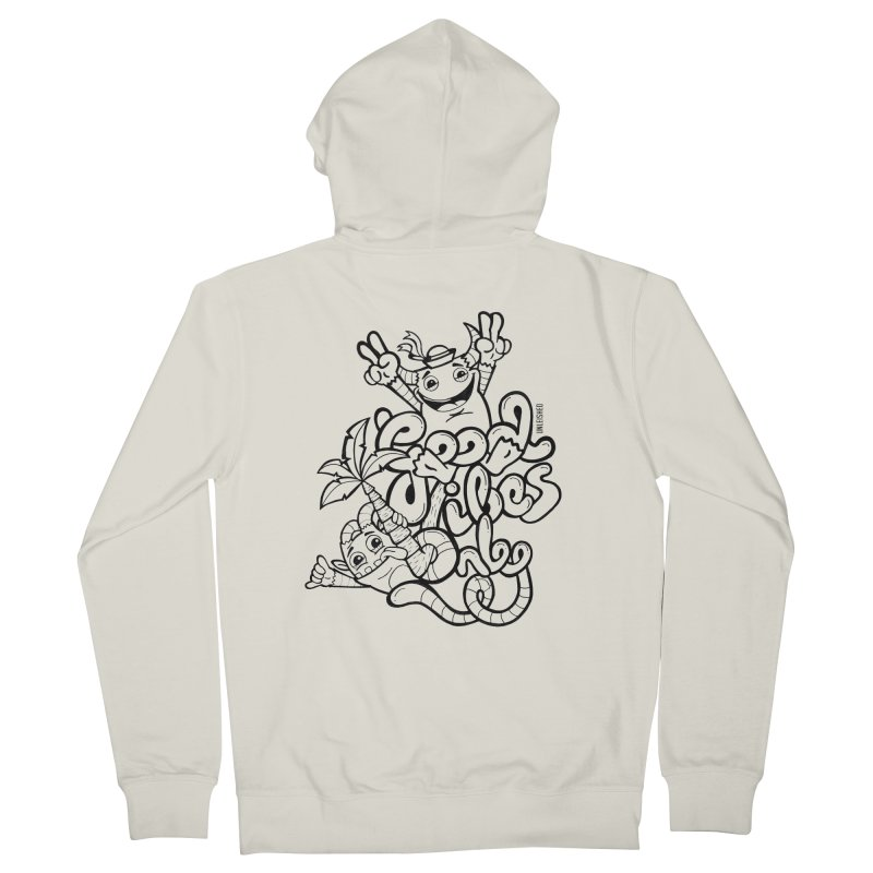 Good vibes only Men's French Terry Zip-Up Hoody by Unleished Art
