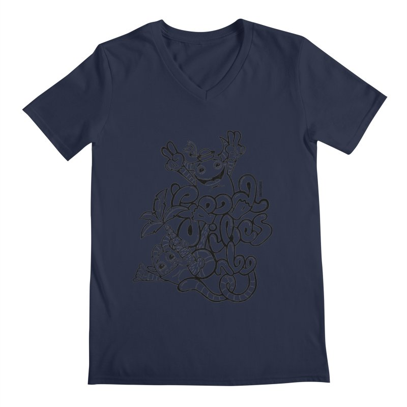 Good vibes only Men's V-Neck by Unleished Art