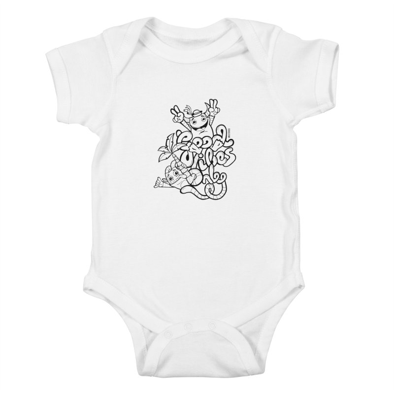 Good vibes only Kids Baby Bodysuit by Unleished's Artist Shop