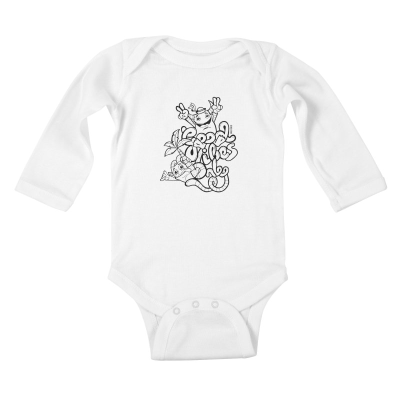 Good vibes only Kids Baby Longsleeve Bodysuit by Unleished's Artist Shop