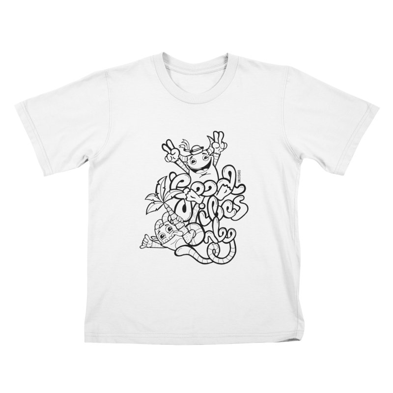Good vibes only Kids T-Shirt by Unleished Art