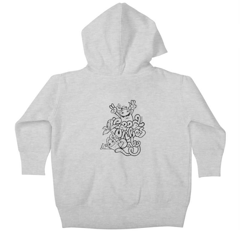 Good vibes only Kids Baby Zip-Up Hoody by Unleished Art