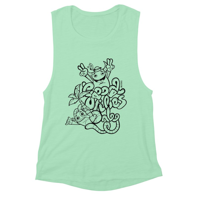 Good vibes only Women's Muscle Tank by Unleished's Artist Shop