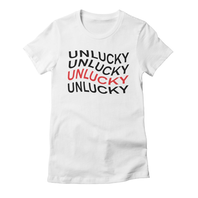 Unlucky Wave Women's Fitted T-Shirt by UNLUCKY CULT