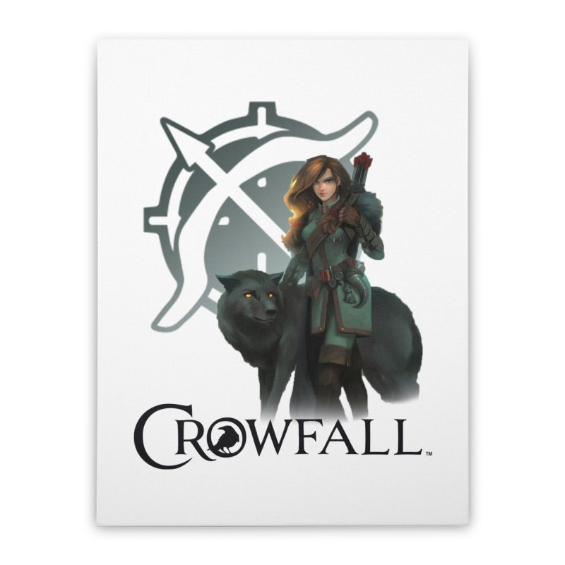 Crowfall Ranger Home Stretched Canvas by Shirts by Noc