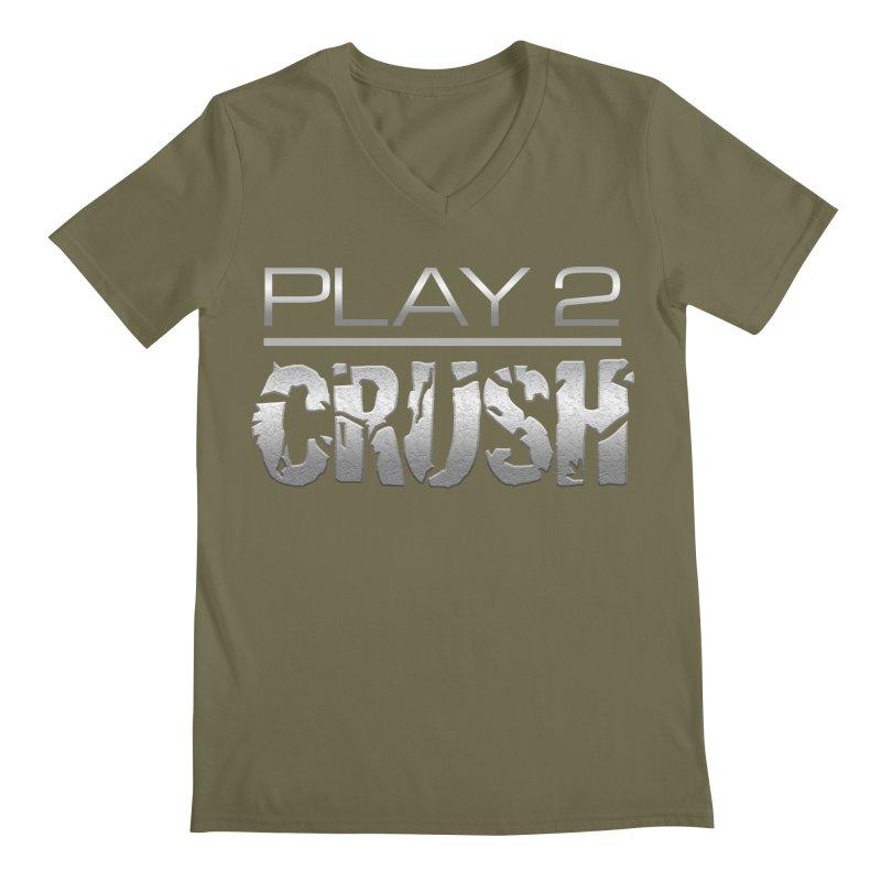 P2 Crush! Men's Regular V-Neck by Shirts by Noc