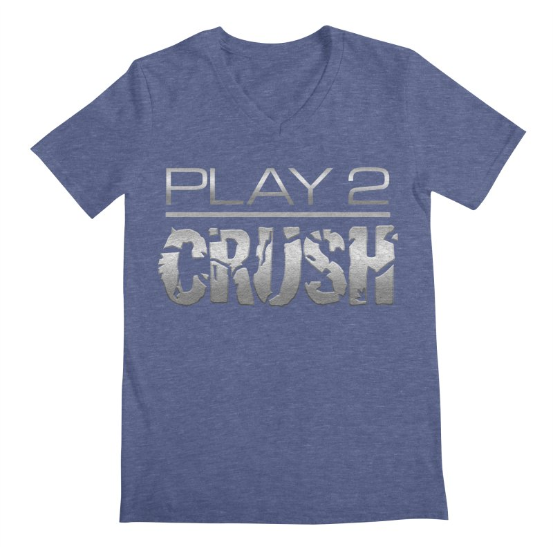 P2 Crush! Men's Regular V-Neck by Shirts by Noc